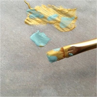 How to make a pendant necklace. Painted Key Necklace - Step 3