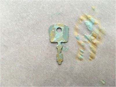 How to make a pendant necklace. Painted Key Necklace - Step 5