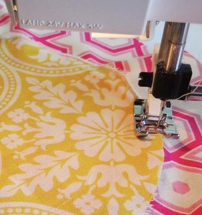 How to make a patchwork quilt. Drunken Chevron Quilt Block - Step 4