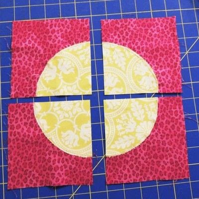 How to make a patchwork quilt. Drunken Chevron Quilt Block - Step 6