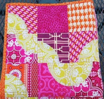 How to make a patchwork quilt. Drunken Chevron Quilt Block - Step 8