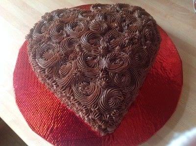How to bake a chocolate cake. Valentines Heart Chocolate Cake - Step 5