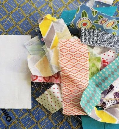How to make a patchwork quilt. Trash To Treasure Quilt Block - Step 2