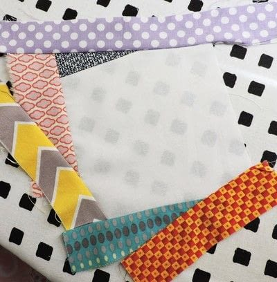 How to make a patchwork quilt. Trash To Treasure Quilt Block - Step 5