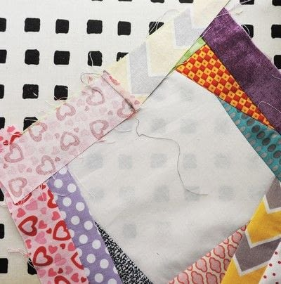 How to make a patchwork quilt. Trash To Treasure Quilt Block - Step 6