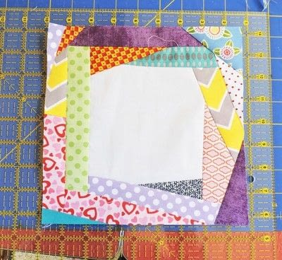 How to make a patchwork quilt. Trash To Treasure Quilt Block - Step 8