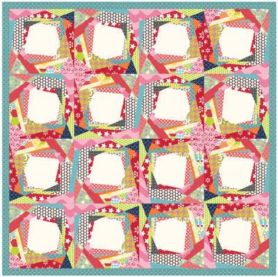 How to make a patchwork quilt. Trash To Treasure Quilt Block - Step 9