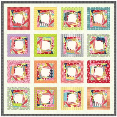 How to make a patchwork quilt. Trash To Treasure Quilt Block - Step 10