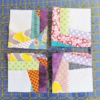 How to make a patchwork quilt. Trash To Treasure Quilt Block - Step 11