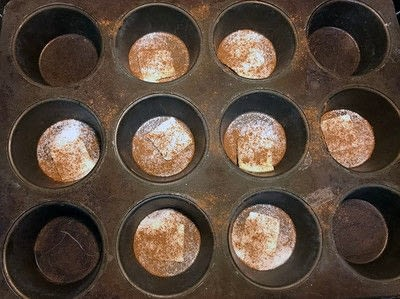 How to bake a cinnamon muffin. King Cake Monkey Muffins - Step 3
