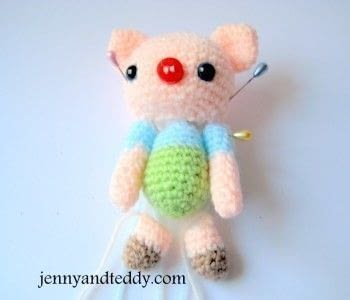 How to make a pig plushie. Willy Baby Piggy Amigurumi - Step 3