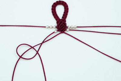 How to braid a braided bead bracelet. Rosebud Macrame Bracelet - Step 18