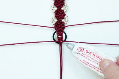 How to braid a braided bead bracelet. Rosebud Macrame Bracelet - Step 23