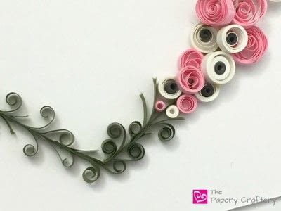 How to make a paper flower. Flowers And Vines Heart - Step 7