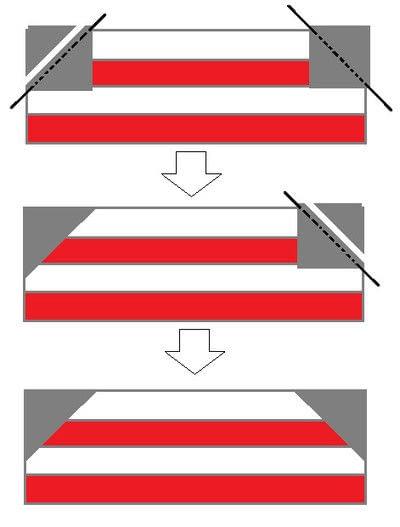How to make a patchwork quilt. Umbrella Quilt Block - Step 3