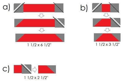 How to make a patchwork quilt. Umbrella Quilt Block - Step 4