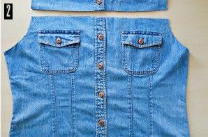 How to make a pencil skirt. Denim Shirt To Skirt Refashion - Step 2