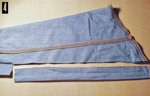 How to make a pencil skirt. Denim Shirt To Skirt Refashion - Step 4