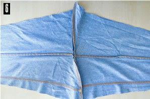 How to make a pencil skirt. Denim Shirt To Skirt Refashion - Step 6