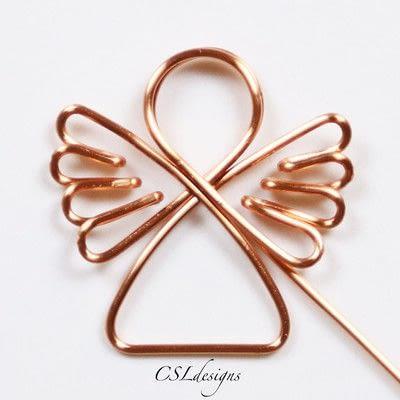 How to make a dangle earring. Wirework Angel - Step 9