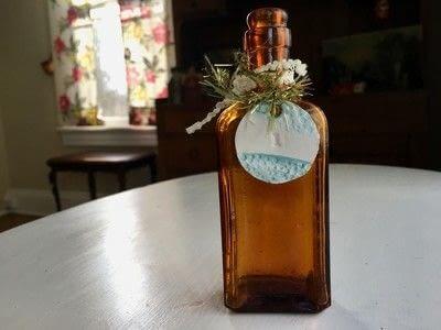 How to make a vase, pot or planter. Personalized Vintage Bottle Vases - Step 1