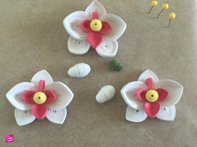 How to make a paper flower. Quilling Paper Orchid - Step 6