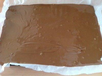 How to bake a bar / slice. Crispy Peanut Bars - Step 7