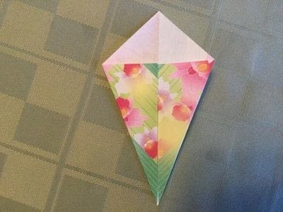 How to fold an origami shape. Origami Compass Star - Step 2