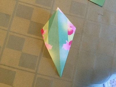 How to fold an origami shape. Origami Compass Star - Step 5
