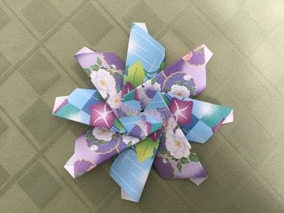 How to make an origami flower. Origami Aster - Step 24
