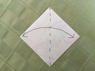 How to fold an origami bird. Origami Swan - Step 1