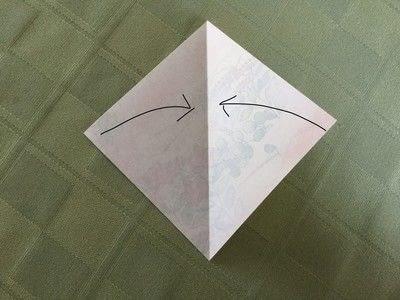 How to fold an origami bird. Origami Swan - Step 2