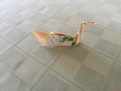 How to fold an origami bird. Origami Swan - Step 13