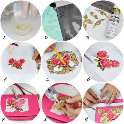 How to make a handbag. Dolce & Gabbana Inspired Handbag - Step 2