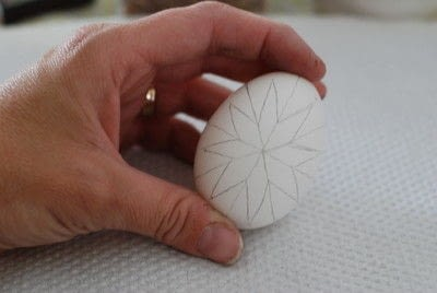 How to make a decorative egg. Pysanky - Step 3