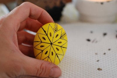 How to make a decorative egg. Pysanky - Step 9