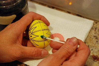 How to make a decorative egg. Pysanky - Step 11