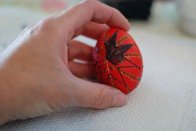 How to make a decorative egg. Pysanky - Step 13