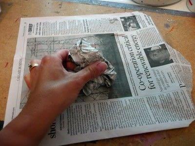How to make an ornament. Papier Mache Birds - Step 1