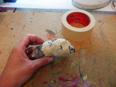 How to make an ornament. Papier Mache Birds - Step 2