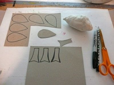How to make an ornament. Papier Mache Birds - Step 4