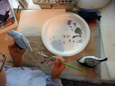 How to make an ornament. Papier Mache Birds - Step 7