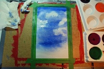 How to paint a piece of watercolor art. Painting Spring Trees - Step 2