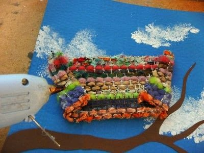 How to make a mixed media. Spring Weaving - Step 6