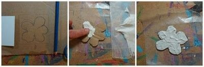 How to make an artist trading card. Flower Inchies - Step 5