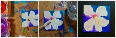 How to make an artist trading card. Flower Inchies - Step 10