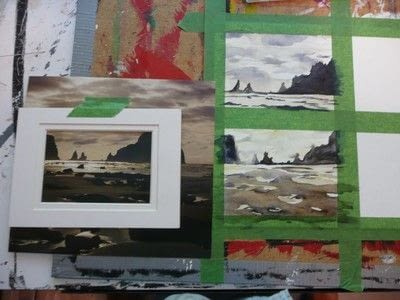 How to create a drawing or painting. Mini Landscapes - Step 4