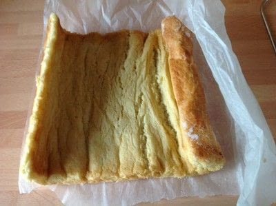 How to bake a roulade. Strawberry & Cream Roulade - Step 7