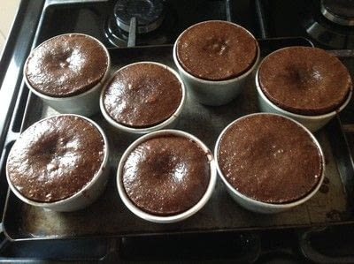 How to bake a molten lava cake. Dark Chocolate Fondant  - Step 6