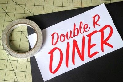 How to make a plaque / sign. Neon Diner Sign - Step 1